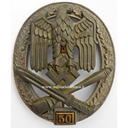 "GENERAL ASSAULT BADGE ""50"" JFS"