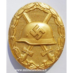 GOLD WOUND BADGE IN BUNTMETALL