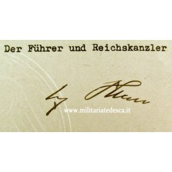 HITLER SIGNED DOCUMENT FOR...