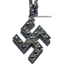 SWASTICA NECKLACE WITH STONES