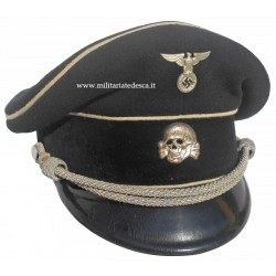 SS-VT OFFICER BLACK VISOR CAP