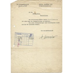 HIMMLER SIGNED DOCUMENT
