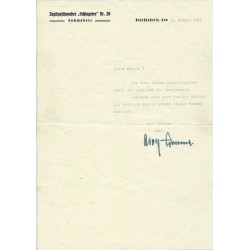 ADOLF GALLAND LETTER AND...