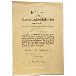 HIMMLER HAND SIGNED DOCUMENT