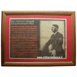 HITLER'S SPEECH POSTER